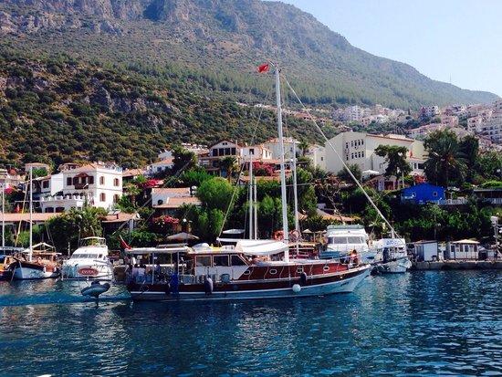 Boat Trips by Captain Ergun : Evita teknesi Kaş Liman'ından ayrılırken...