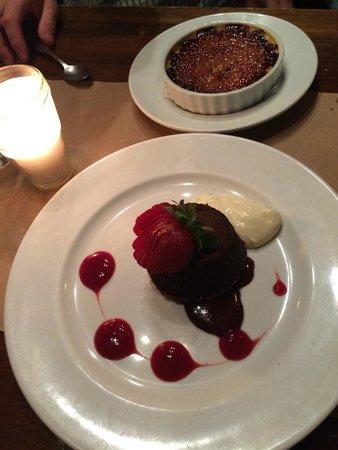 Hector's Bistro: Creme Brûlée and Chocolate Lava Cake