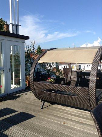 Hotel Constantia: Schöne Dachterresse mit herrlichem Ausblick