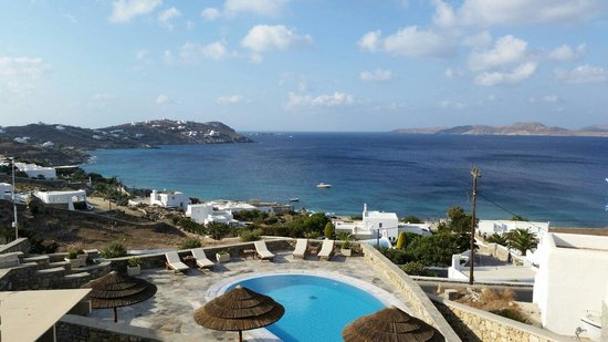 Panthea Residence: The view from the terrace
