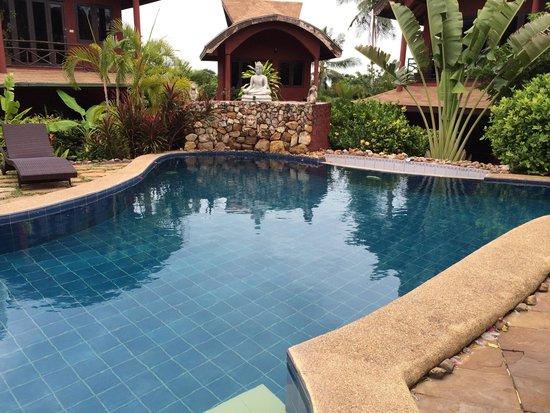 Wazzah Resort: La piscine, très bien entretenu, très jolie cadre
