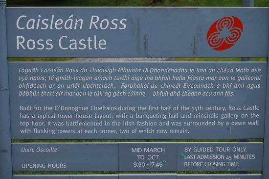 Ross Castle: les horaires