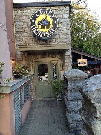 Curry Original: The main entrance.