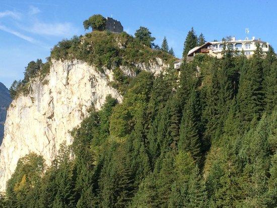 Das Burghotel Falkenstein : Blick aufs Hotel