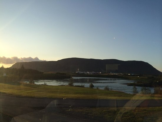 View from the Restaurant at Hotel Selfoss