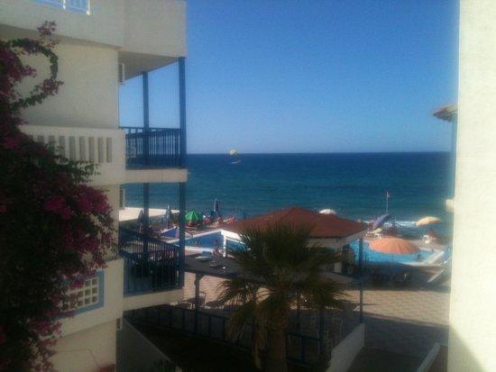 Christiana Beach Hotel : Sicht vom Balkon