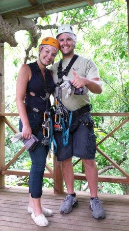 Treetop Adventure Park: Having a blast!