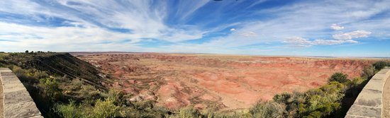 Panoramic shot of painted desert.