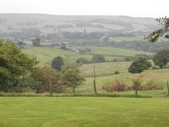 Quarlton Fold Farm : Zicht op Chapeltown Turton Lancashire