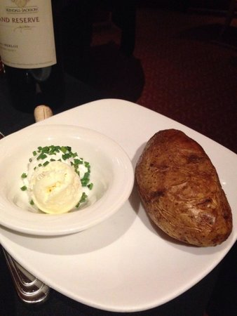 Second Street Grill : Baked potato side  with creme fraiche and butter