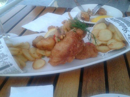 Van Loon: Backfisch,sehr lecker...