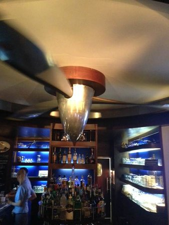 Hotel Christine : Cool DC-6 propeller spins over the bar