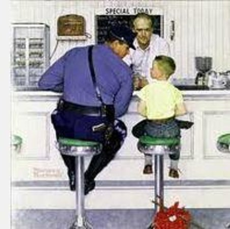 Joe's Diner: The famouse Rockwell scene clipped from the internet