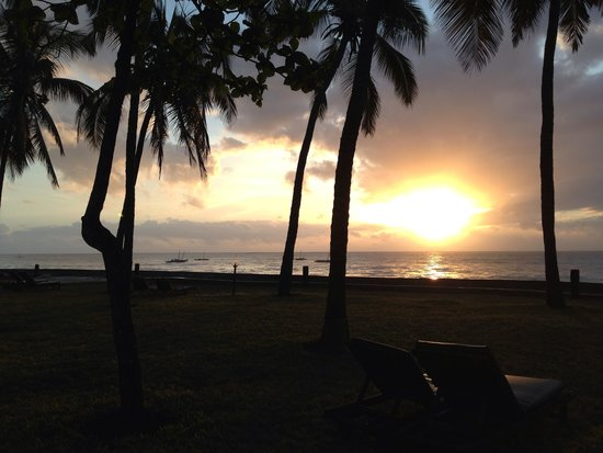 Neptune Village Beach Resort & Spa : Alba dal giardino