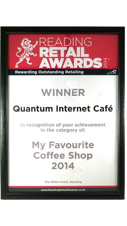 Quantum Web Cafe: Our award, received in September 2014