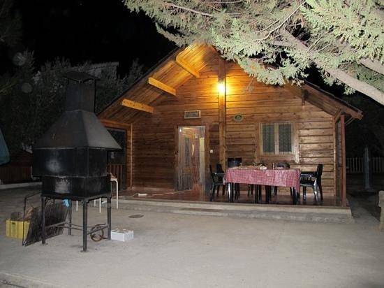 Casas Rurales La Caraba: la cabaña de noche