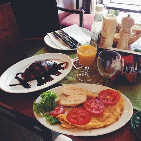 Cafe Jubilee Budapest: Завтрак