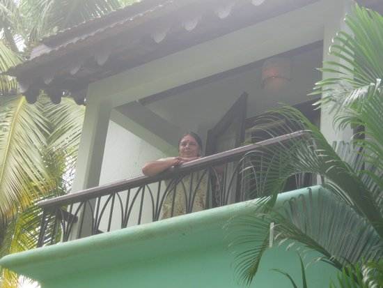 Miramar Residency: View of My Balcony from Swimming Pool