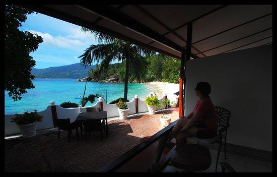 Anse Soleil Beachcomber: la plage vue de notre hotel