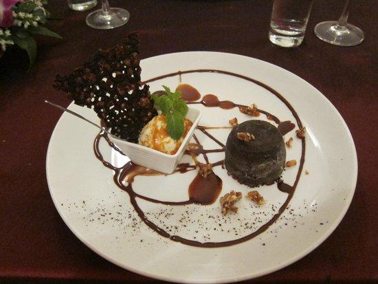 La Badiane restaurant : The chocolate dessert