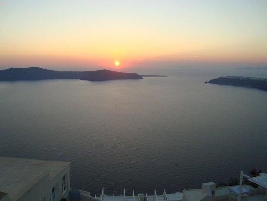 Andromeda Villas: Sun set from the terrace