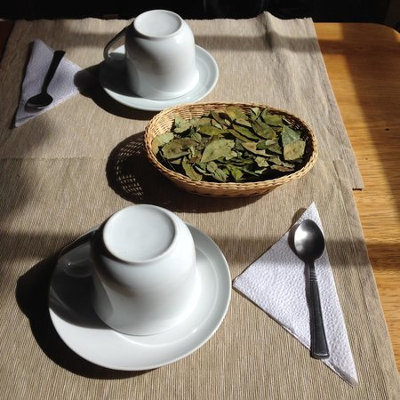 Maison Fortaleza: greeted with coca tea on arrival