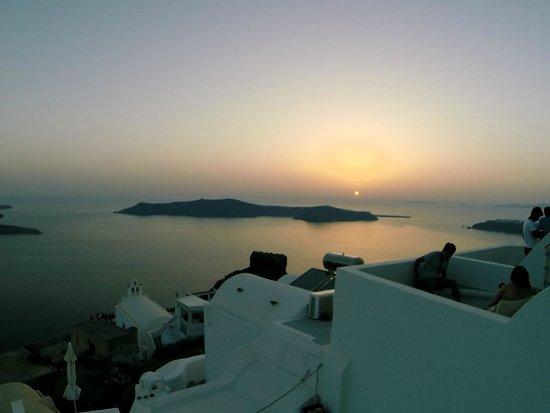 Irida Santorini: Sunset from our room