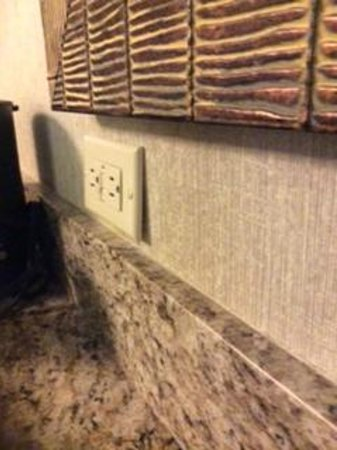 Embassy Suites by Hilton Charlotte: Electrical Outlet by Wetbar