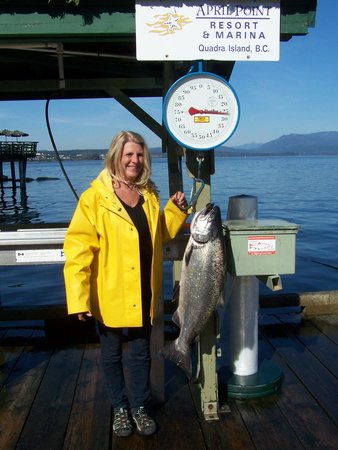 April Point Resort & Spa: 27 lb Chinook