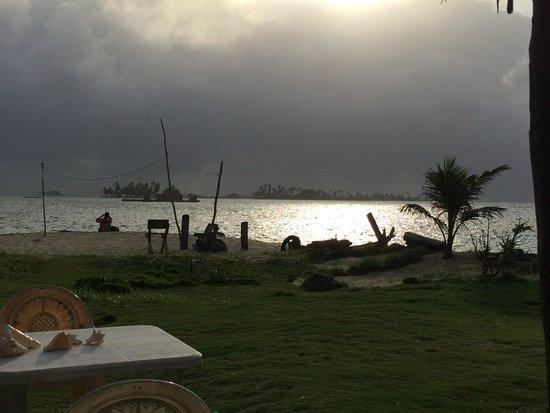 Cabanas Coco Blanco: Amanhacer visto da cabana