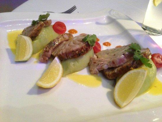 Aqua Restaurant: pan seared turna