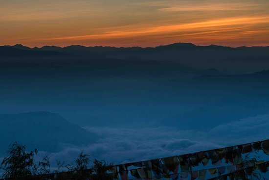sunrise view from tiger hill