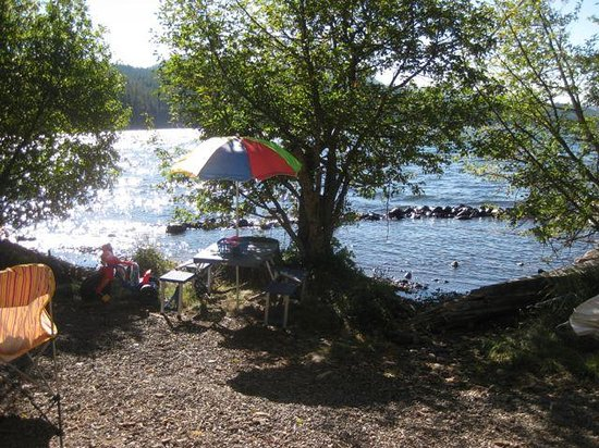 Odell Lake Lodge & Resort: Our campsite, right on the water