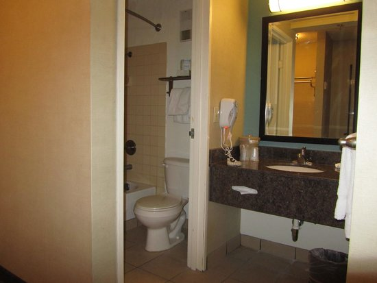 Silver Sevens Hotel & Casino: Salle de bain petite mais propre et fonctionnelle