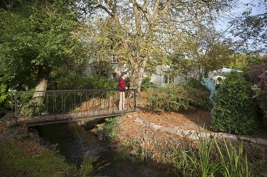 The Hartnoll Hotel: Delightful bridge over the stream