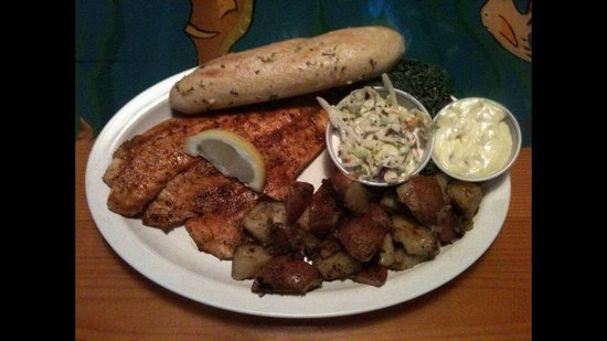 McKenna's Place NSB: I love the aioli with the blackened fish...my new fav...you should definitely try it...you won't