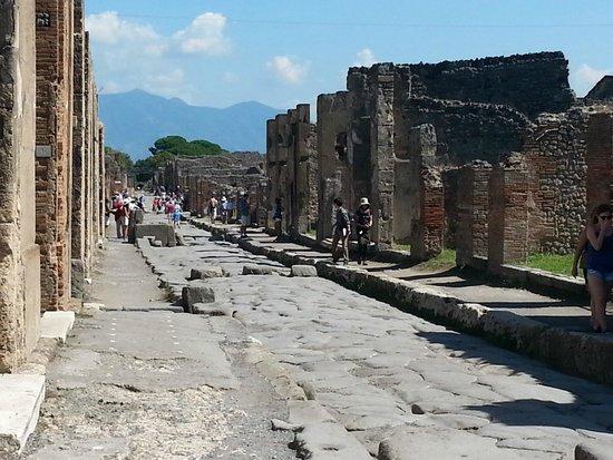 Pompeii Archaeological Park: Pompeii street - not pushchair friendly!!