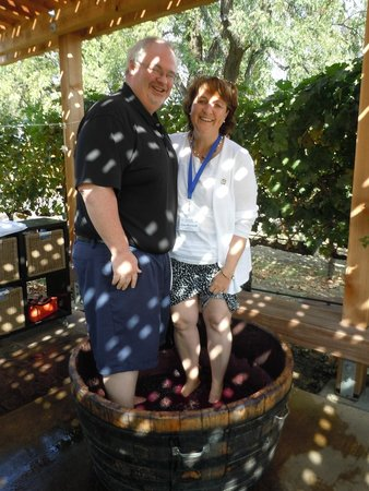 Grgich Hills Estate: Grape stompin' with my honey!