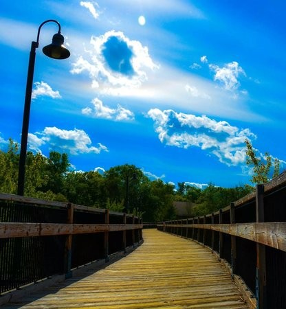 Eau Claire, WI: Bridge to the clouds