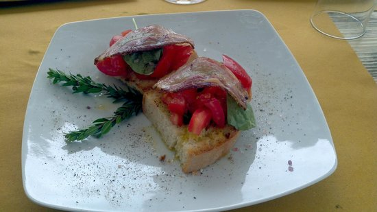Osteria Villa Felice: bruschetta con bacon 10/10
