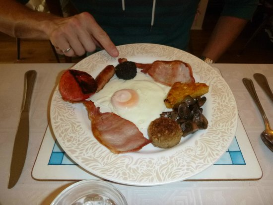Belvedere Lodge : Full Irish breakfast including black and white pudding