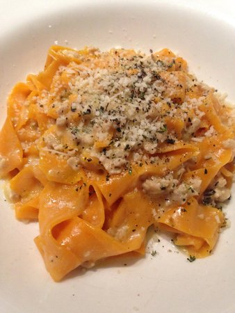 Tosca Restaurant: carrot pappardelle with white wine-rabbit ragu