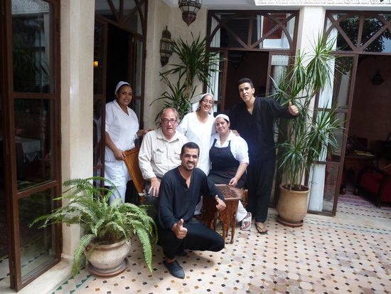 Riad de la Belle Epoque: Me, with the lovely Riad staff