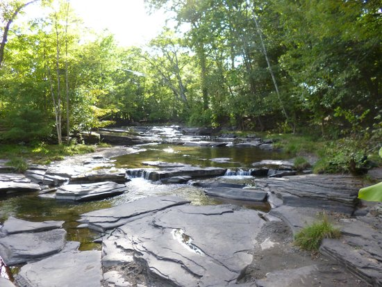 The Woodstock Inn on the Millstream: View of stream