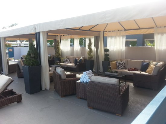 The Domain Hotel: stylish and comfortable cabanas