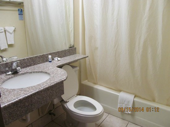 Microtel Inn & Suites by Wyndham Gatlinburg: bathroom was a decent size, good water pressure