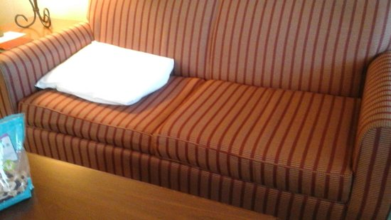 Quality Inn Lake Placid : Bring extra pillows if you want not to sit on the floor