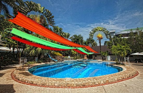 Swimming pool picture of garden oases restaurant davao - Apartelle in davao city with swimming pool ...