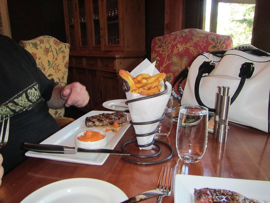 Sleeping Buffalo Restaurant & Lounge : Delicious Truffle Fries in Uniquel Container