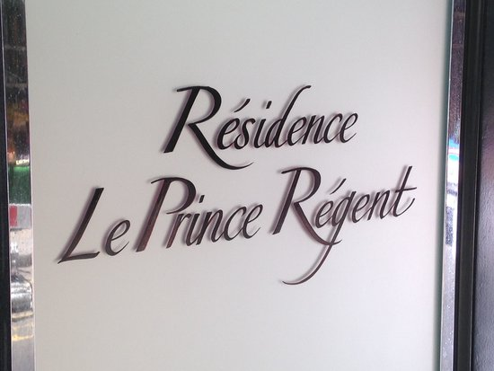 Residence & Spa Le Prince Regent: Entrance sign